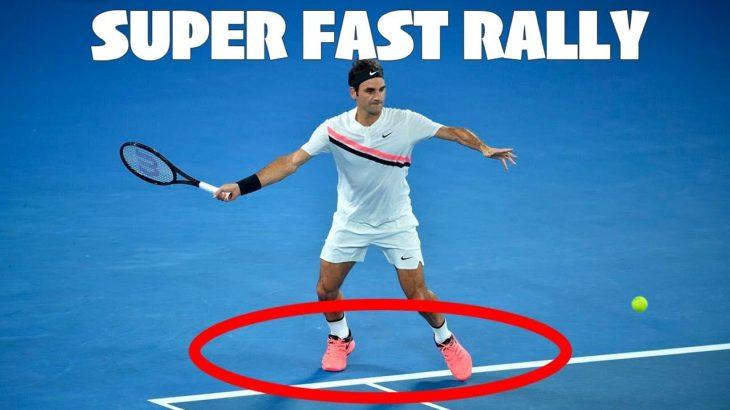【テニス】【伝説】一歩も下がらない…!?フェデラーの超高速ラリー!【神業】Roger Federer Super Fast Rally