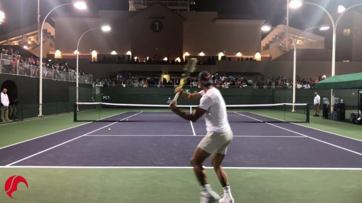 Nadal Intense Training Indian Wells 2019 Tennis – Court Level View