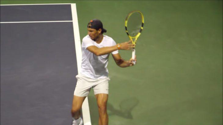 Rafael Nadal Forehand Slow Motion 2019