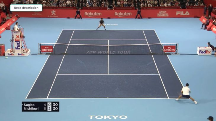 Nishikori (錦織) VS Sugita (杉田) Tokyo 2018