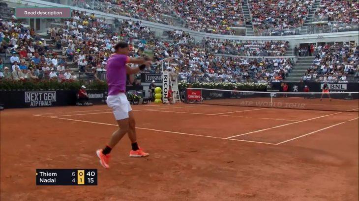 Nadal (ナダル) VS Thiem Rome