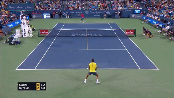 Kyrgios (キリオス) VS Nadal (ナダル) WS