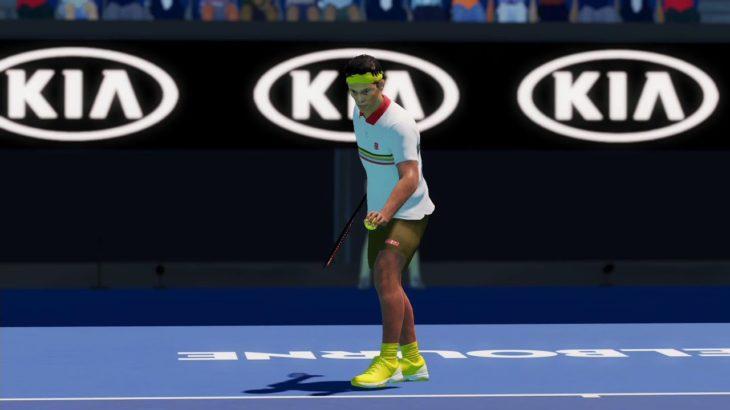 【AO Tennis2】錦織圭 vs ナダル(第2シード)  AOオーストラリアオープン 準決勝