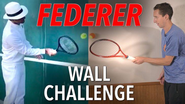 Roger Federer Wall Challenge – Home Tennis Drills