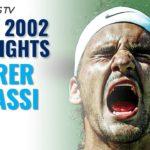 Roger Federer v Andre Agassi Miami 2002: Extended Tennis Highlights