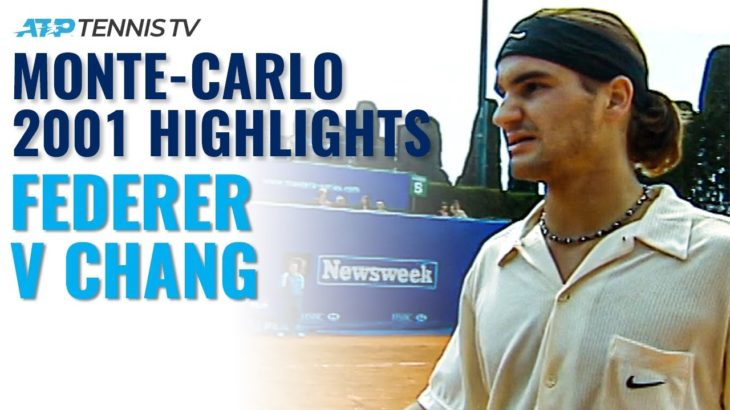 Roger Federer vs Michael Chang: Monte-Carlo 2001 Tennis Highlights