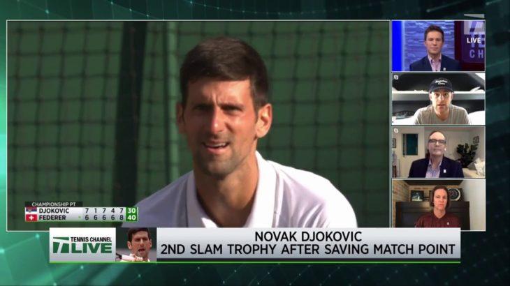 Tennis Channel Live: 2019 Wimbledon Rewind: Roddick Analyzes Djokovic vs. Federer Final