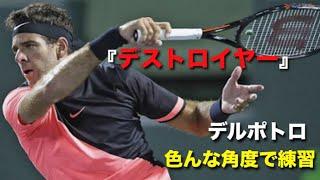 【テニス】最強『デストロイヤー』!!デルポトロの練習を色んな角度で見る動画【デルポトロ】