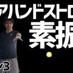 【テニス】初心者レッスン3:フォアハンドストロークの素振り(スイング)