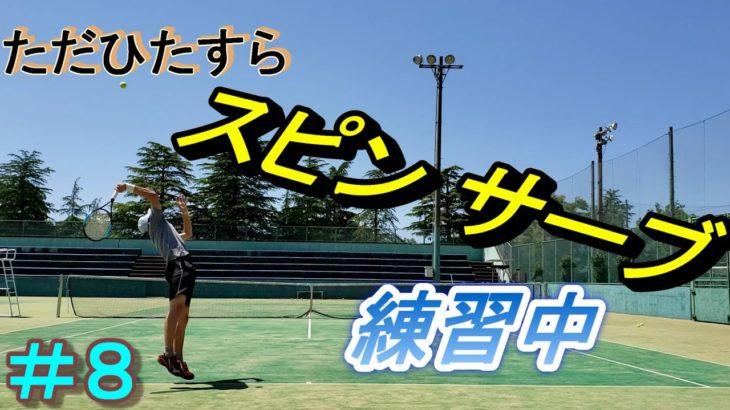 #8【テニスtennis】1年間でスピンサーブ(キックサーブ)を打てるようになるか(1017~1221回)