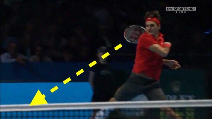 【テニス】何度見てもヤバい!!フェデラーの回り込みフォアハンドはもはや芸術すぎる!【衝撃】Federer inside out forehand compilation 【tennis】