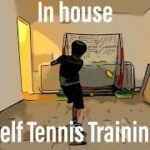 In House self Tennis Training / お家でテニスの自主練習