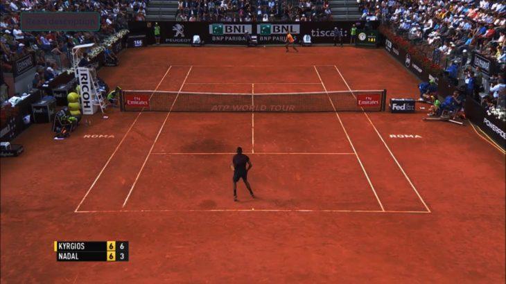 Kyrgios (キリオス) VS Nadal (ナダル)