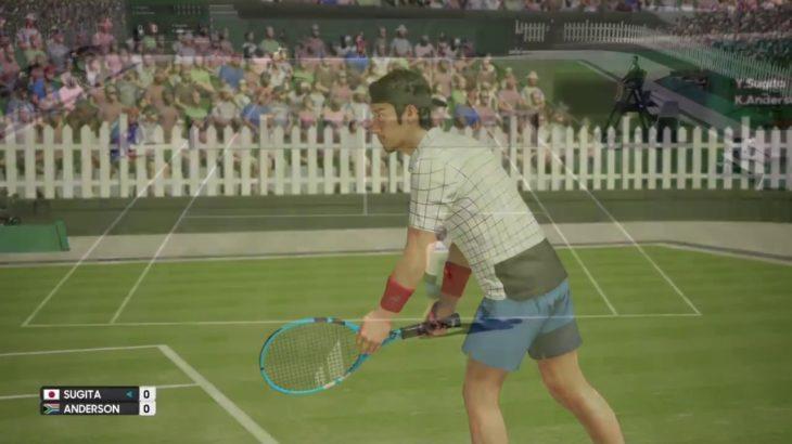PS4の本格テニスゲームを実況 AO international tennis ケビンアンダーソンさんvs杉田祐一さん