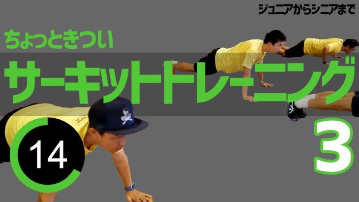 【家でできるテニス】Part3ちょっときつめのサーキットトレーニング