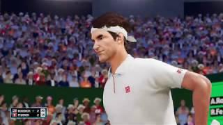 アンディ・ロディックVSロジャー・フェデラー エキシビションマッチ 【AO Tennis2】