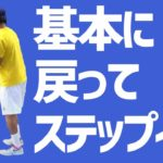【テニス】グランドスラム優勝エミリオ・サンチェスもしつこく指導する基本!フットワークも基本のステップインを見直そう!