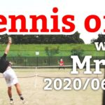 テニスオフ 2020/06/27 シングルス 中級前後 Tennis with Mr.O Men's Singles Practice Match Full HD