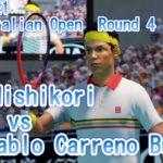 【AO TENNIS 2】錦織 圭 VS パブロ・カレーニョ・ブスタ 2019年全豪オープン4回戦