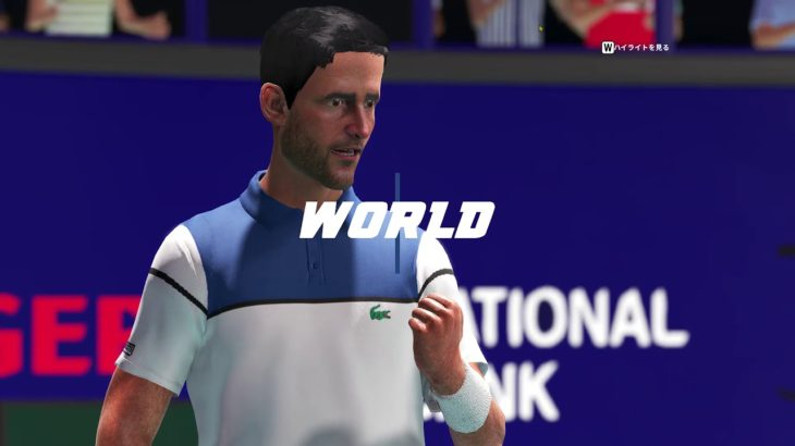 [AO Tennis 2]ジョコビッチと初対戦