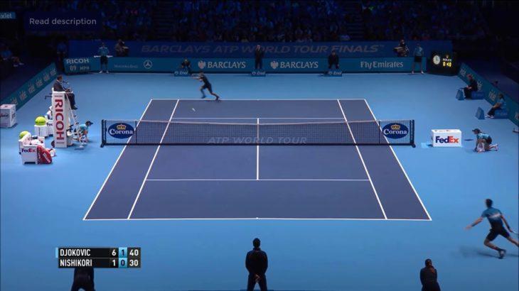 Djokovic (ジョコビッチ)VS Nishikori (錦織)