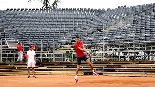 Novak Djokovic & Grigor Dimitrov Practice 2020 Adria Tour