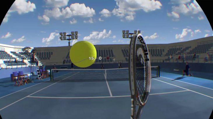 【PSVR】【Dream match tennis】実況!ソフトテニス経験者がVRでテニスをしてみた!!オンライン!