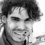 ラファエル・ナダルを鉛筆で描いてみました。[Rafael Nadal Pencil drawing] Music by @ikson