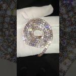 ローズゴールド ダイヤ テニスチェーン Rose Gold Diamond Tennis Chain