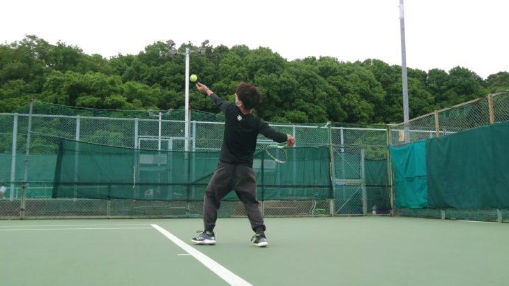 テニス サーブ打ってみた 【tennis practice serve】 4K