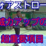 <テニスメディア 評論>『テニス上達の動画解説チャンネルテニスと人を紡ぐ詩』「【テニ紡】姿勢とフォアストロークのテイクバックについて説明しています。シンプルテニスを目指したテイクバックの方法は…」
