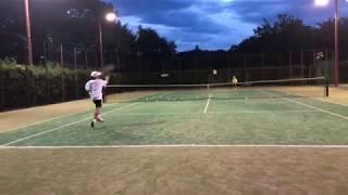 11歳の選手、テニスの3球目攻撃/3rd ball attack (11 Years Old Junior Tennis)