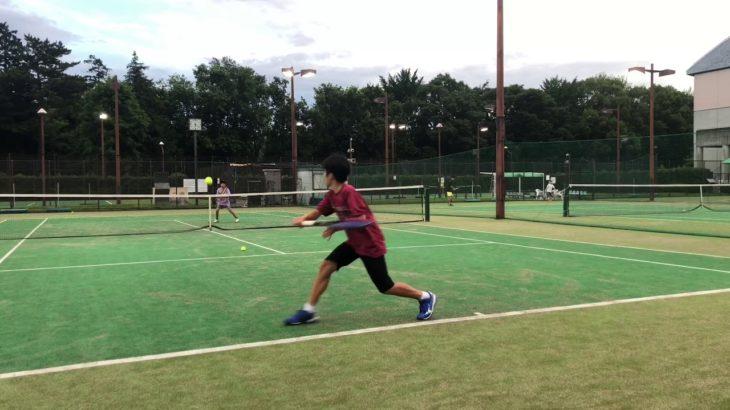 中学1年/テニスのライジング、ショートバウンドの練習法/Hit On The Rise In Tennis