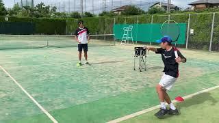 【ジュニアテニス】井藤祐一プロと練習をしました。2019ジュニア全国大会3大会連続決勝戦に進出した選手が日々行っている練習動画です。
