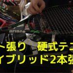 ガット張り(21本目) 硬式テニス ハイブリッド2本張り stringing tennis