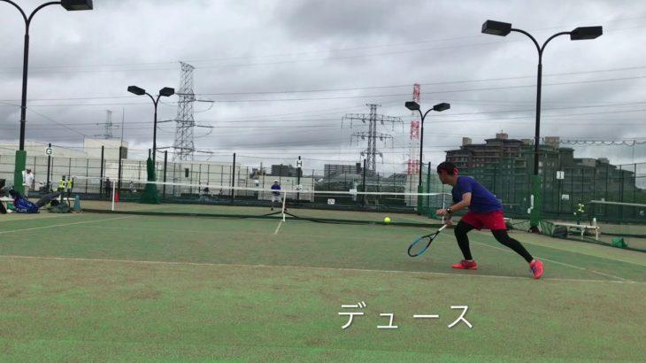 7/13テニスオフ中上・上級シングルスTennis with powerful player Men's Singles Practice Match