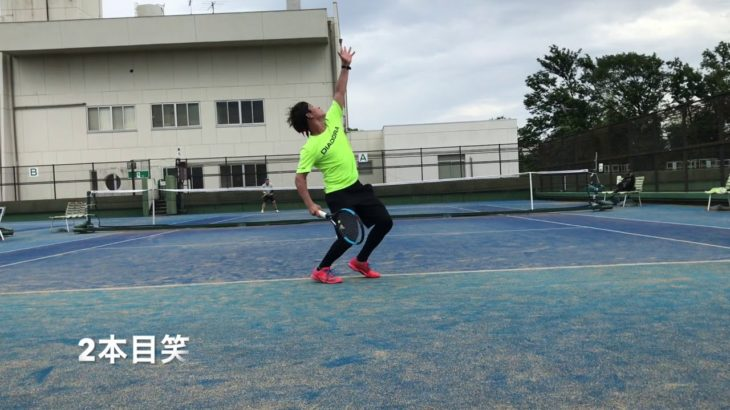 7/7テニスオフ中上級・上級シングルス Tennis with Left handed tennis player.Men's Singles Practice Match.