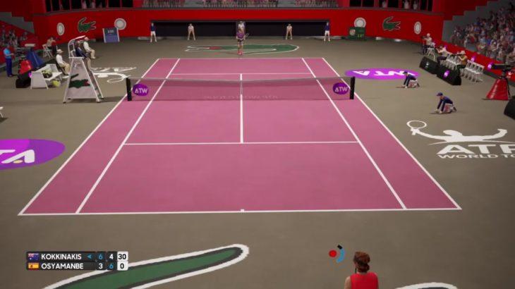 AO tennis tournament Nadal, Anderson, Isner, Sugita, Goffin, Hyeon プロテニストーナメント PS4 杉田祐一選手や偽ナダル選手等参戦