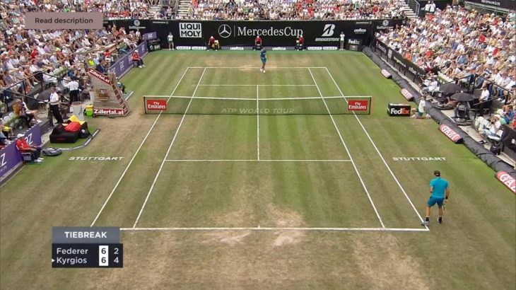 Federer (フェデラー) VS Kyrgios (キリオス)  Stuttgart