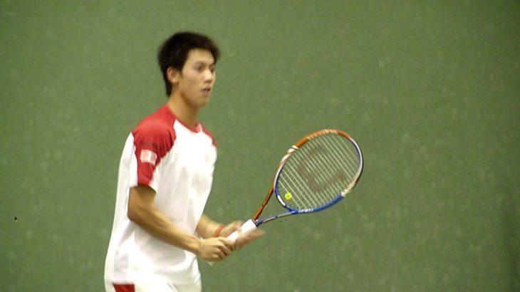 錦織圭 コート練習2 Kei Nishikori (JPN) Practise SAP Open 2010