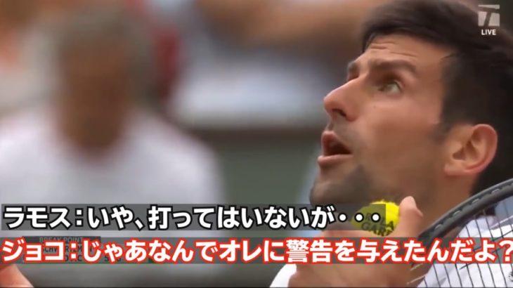 【テニス/和訳】ジョコビッチに対する厳しすぎる警告を再検証| 全仏OP 2017 3rd round vs シュワルツマン