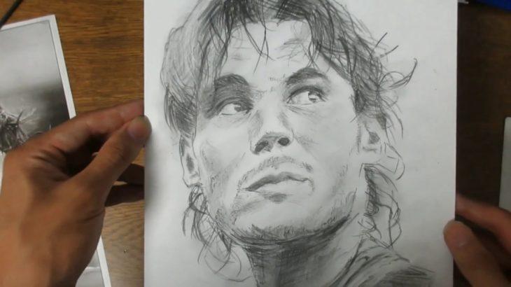 ラファエル・ナダル 鉛筆画 Rafael Nadal Pencildrawing