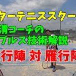 【テニス】永清コーチのダブルス技術解説 雁行陣対雁行陣編【tennis】