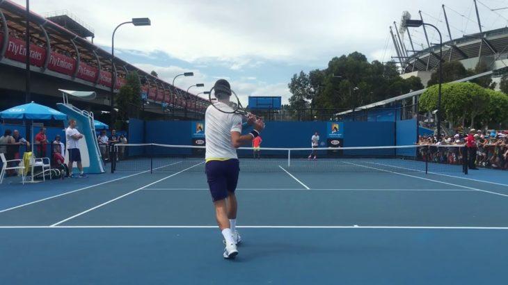ジョコビッチのストローク練習 Novak Djokovic StrokePractice