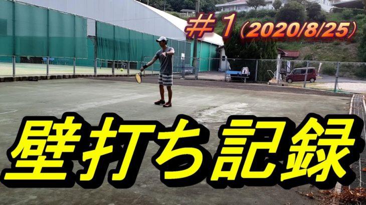 #1テニス壁打ち成長記録(Growth record in tennis wall-hit practice)