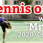 テニスオフ 2020/08/15 シングルス 中級前後 Tennis with Mr.S Men's Singles Practice Match Full HD