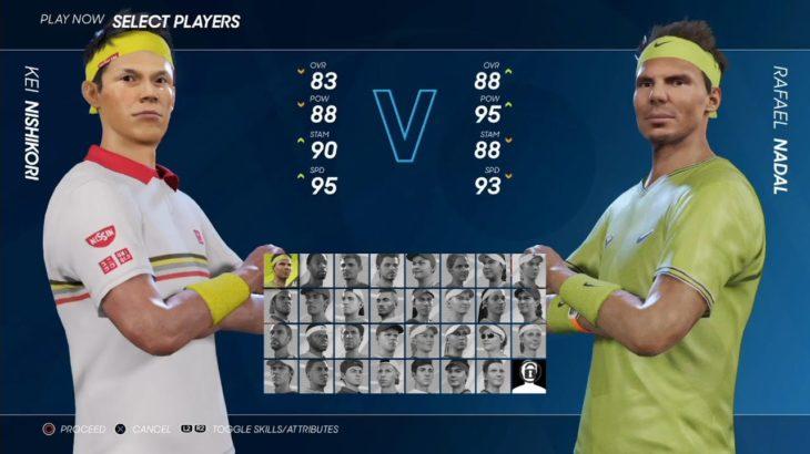 【AO TENNIS 2】錦織 圭 VS ラファエル・ナダル