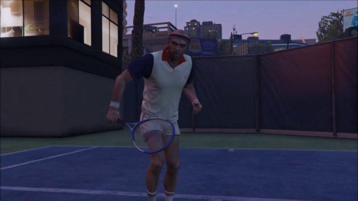 Grand Theft Auto V Tennis Lv.Hard 「Vinewood Apartments」・グラセフ5 テニスハード バインウッドのアパート