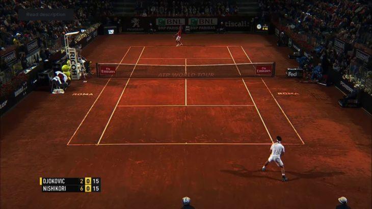 Nishikori (錦織) VS Djokovic (ジョコビッチ) Rome