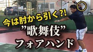 <テニスメディア 添削>『Ray Tennis Team』「【これが最先端のフォアだ!】簡単にパワーが出せる!歌舞伎フォアハンド」2